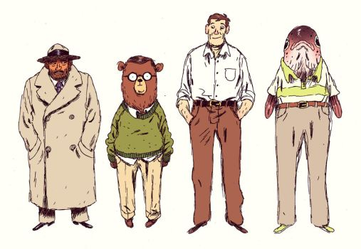 Character lineup by MikkelSommer