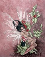 Holly Berry Faery by orafaerygirl
