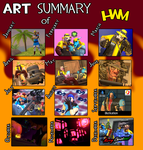 Art Summary of HWM - 2016 edition by HeroWolfMod