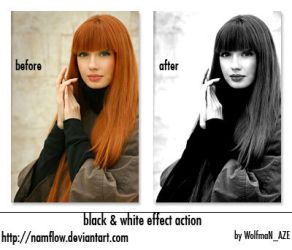 Black and White action by NamfloW