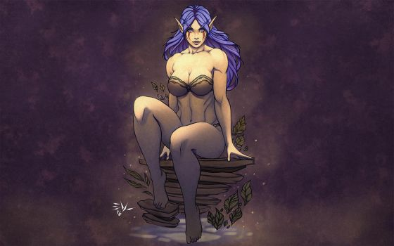 Night Elf Character Commission by NeighborhoodNobody