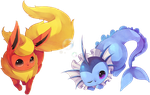 Eeveelutions by Rinslettuce
