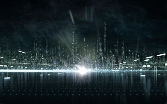 Tron Legacy. City concept. by Shelest