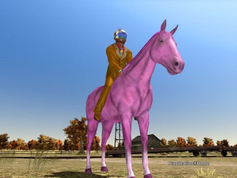 PSHome: GespenstKAF on Pink Ponyback by GespenstKAF