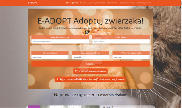 E-ADOPT WEBSITE PET ADOPTION AND CHARITY ADS by Sylv3rWolf