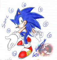 Sonic The Hedgehog by gisselle50
