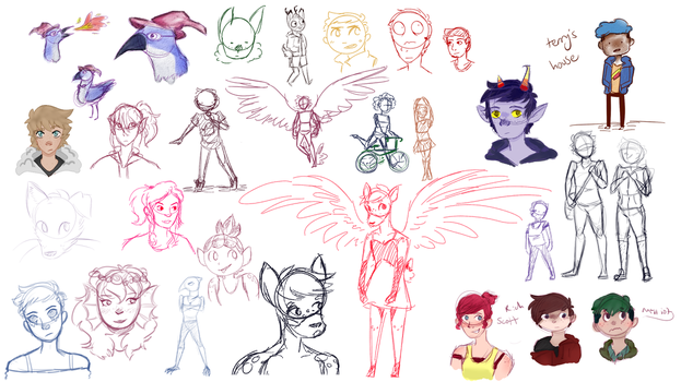 Sketchdump 5 by FeatherFrames