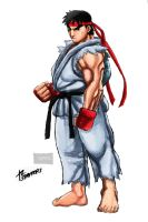 Ryu Standing Fierce by stryfers