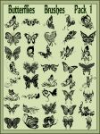 Butterflies    Brushes    Pack 1 by Laurent-Dubus