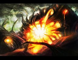 Magic: The Gathering- Rage Extractor Sketch by PioPauloSantana