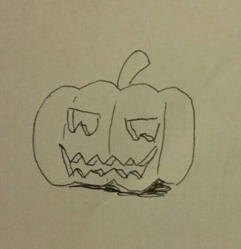 Inktober Day 10 Halloween pumpin by Mangamad