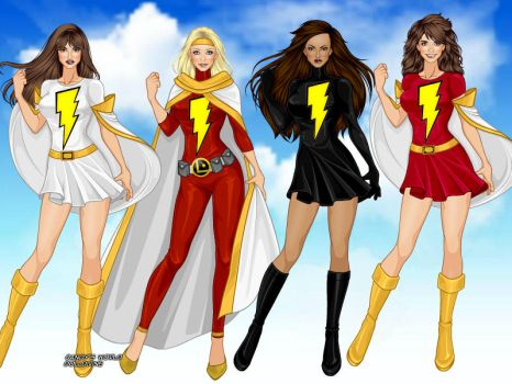 Mary Marvel and Thunder by ortrek