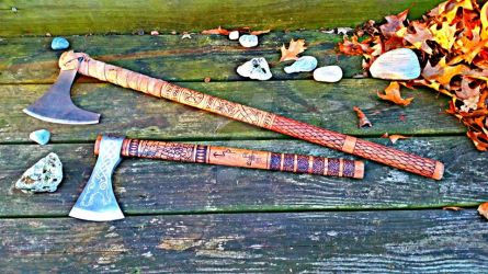 My Norse Axes by warhammer2000