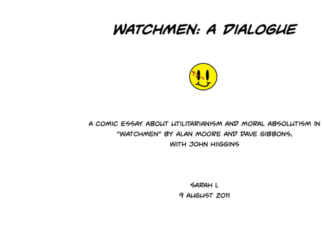 watchmen essay comic by bluebird laughing on  watchmen essay comic