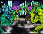 Shark Warriors vs Toad Thugs by Animewave-Neo