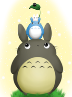 Totoro Trio by Sunshineshiny