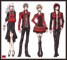 2013 Spring Fashion Show: Revolutionary Red by ember-snow