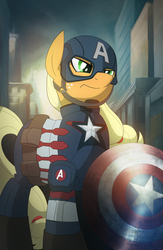 Captain America Applejack by artwork-tee