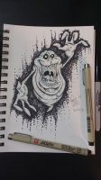 Inktober 4/31 - Slimer by OuthouseCartoons