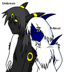 Umbreon + Absol by CosmicWings