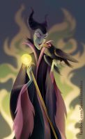 Maleficent and Diablo by Blumina
