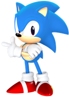Classic Sonic from the Sonic Mania Poster by JaysonJeanChannel