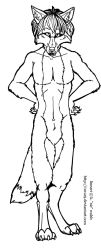 Free Male Werewolf Lineart Template by forumroleplay