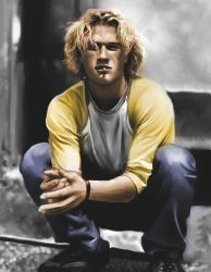 Heath Ledger painting + color by Szikee
