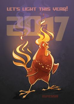 2017 Fire Rooster by Elfessa
