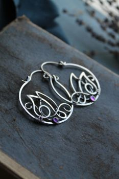 Amethyst wings earrings by UrsulaJewelry