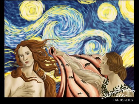 Venus under the Starry Night by theartistseyes