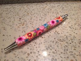 Polymer clay coverd pen by KimmieNL