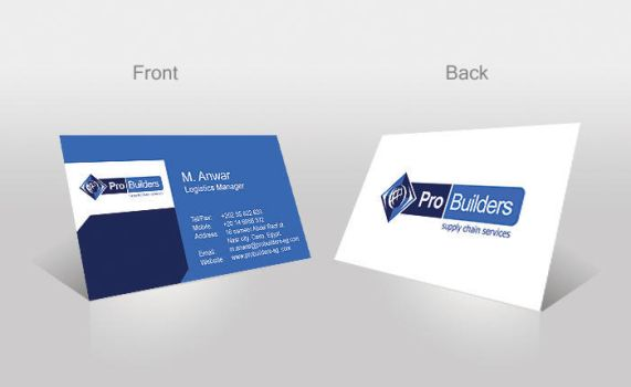 Pro builders company Business Card Preview by ohmto