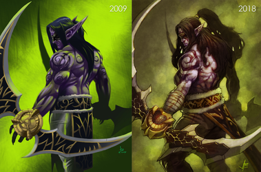 Illidan Stormrage: Demon Hunter Then and Now by OldManLefty