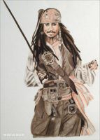 Johnny Depp - Witty Jack by shaman-art