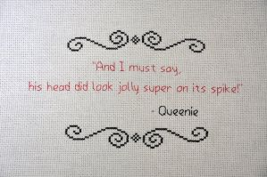 Queenie Quote by VickitoriaEmbroidery