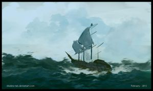 Speed Painting - Sailing the sea by SHadoW-Net