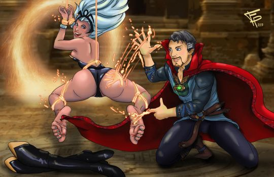 Dr Strange and Storm by Fantasy-Play