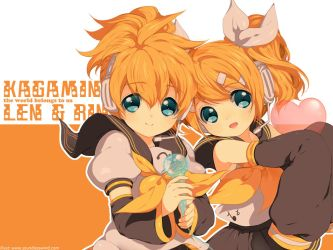 Download: 8 Len+Rin Wallpaper by Kaze-Hime
