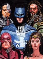 Justice League Poster by me by mrinal-rai