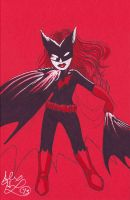 Batwoman Sketch Card by alex-heberling