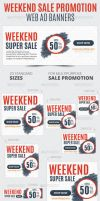 Weekend Sale Promotion Web Ad Banners by webduckdesign