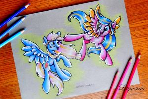 Golden Sapphire and StarBust by LtiaChan