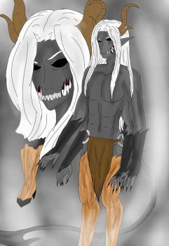 Orcus a w.I.p demon by rubymadness124