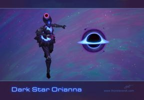 LoL skin concept: Dark Star Orianna by Shockowaffel