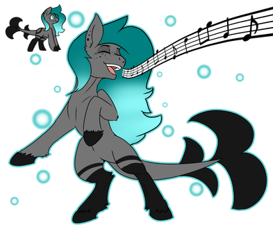 Pony Breedable Adopt: Sea Serenade by Elusive-Paradise