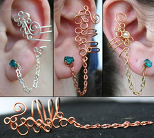 Chained Ear Cuffs by goddessccoa