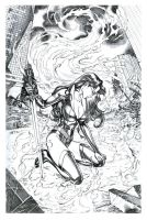 Realm Knights 4 cover pencils by MichaelDooney