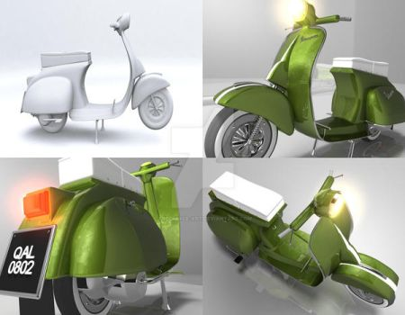 vespa by freestyle-art