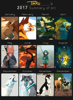 Tikru's 2017 Summary of Art by Tikrekins